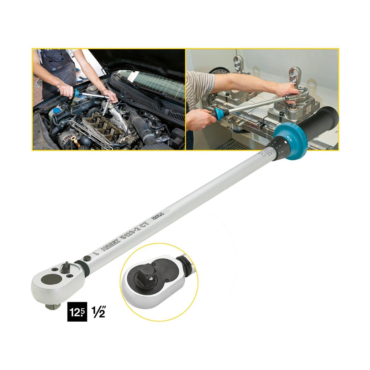 HAZET 5123-2CT Drehmomentschlüssel mit Umschaltknarre, 60 - 320 Nm