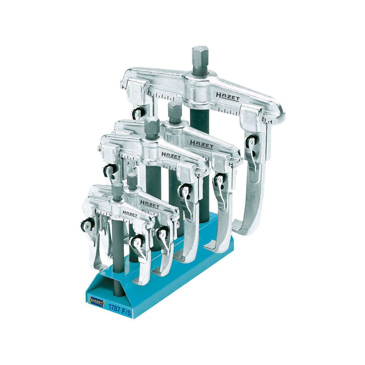 HAZET 1787 F/5 Quick-clamping puller set 2-jaws, 5pcs.