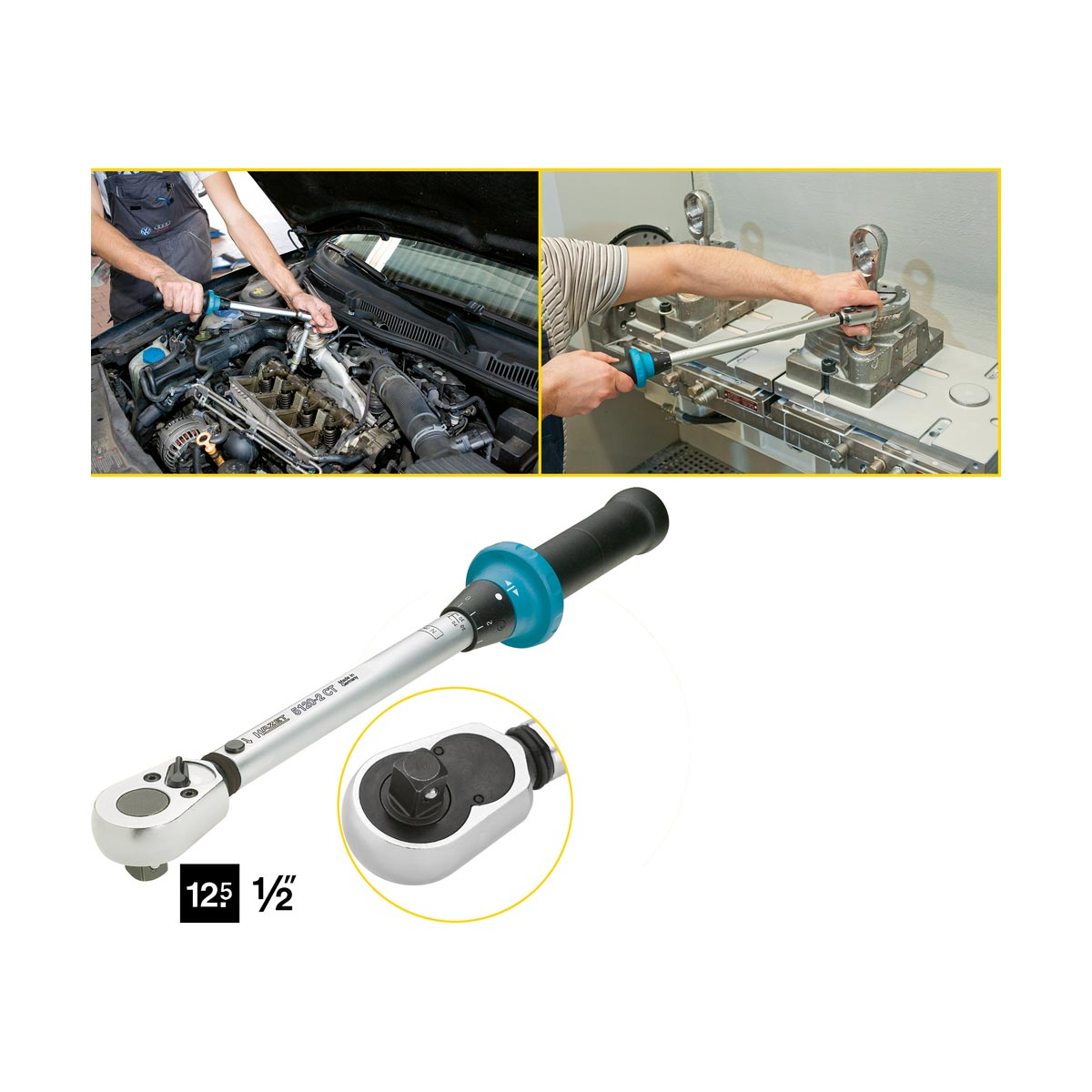 HAZET 5120-2CT Torque wrench with ratchet, 10 - 60 Nm