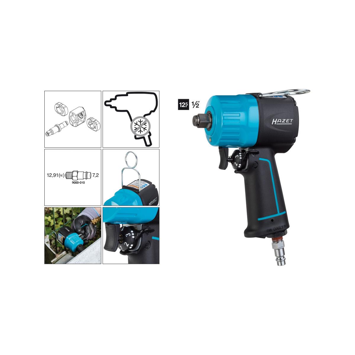 "HAZET 9012MT Impact wrench 12.5mm - 1/2"""