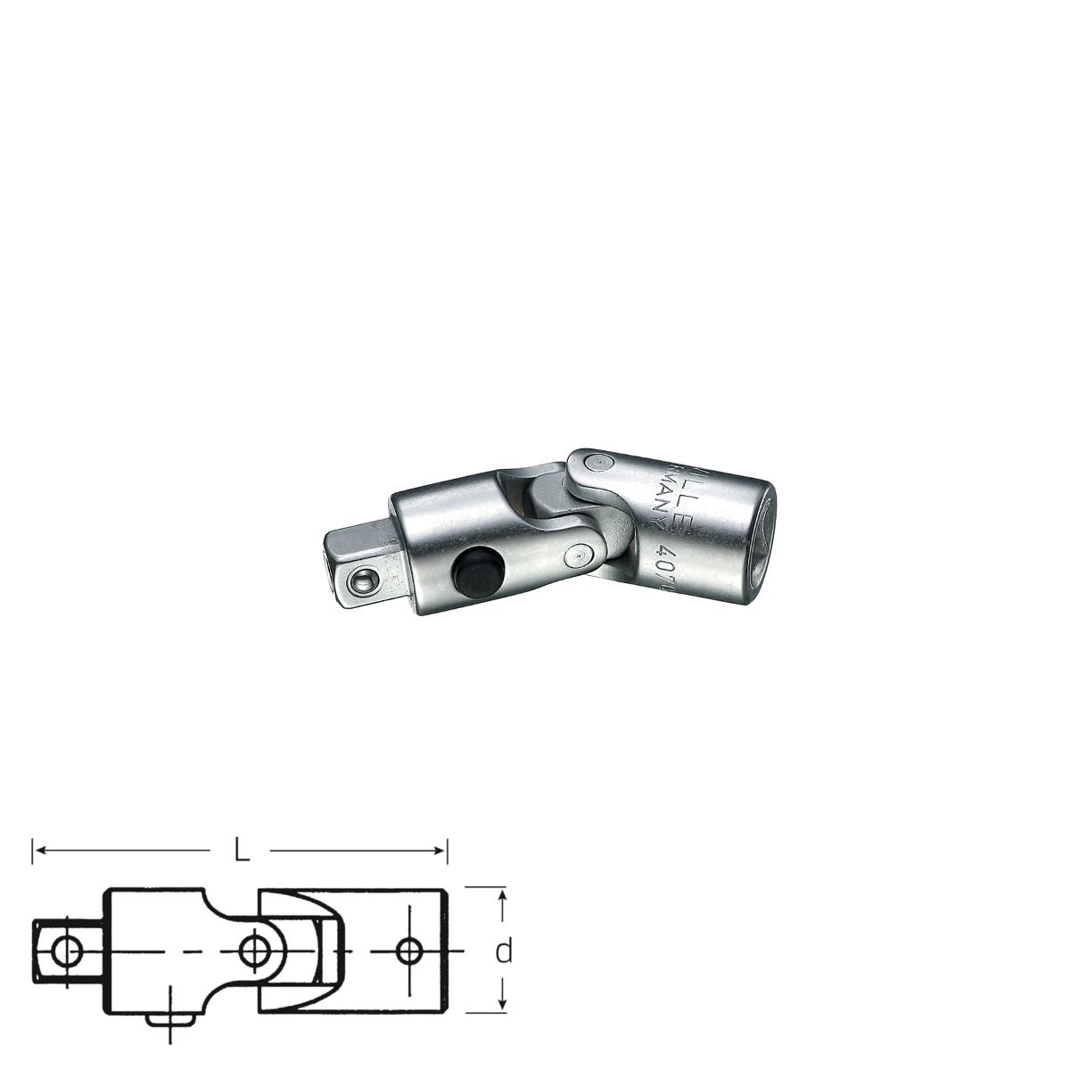 """Stahlwille 1//4/"""" UNIVERSAL JOINT WITH QUICK RELEASE 11021000"""