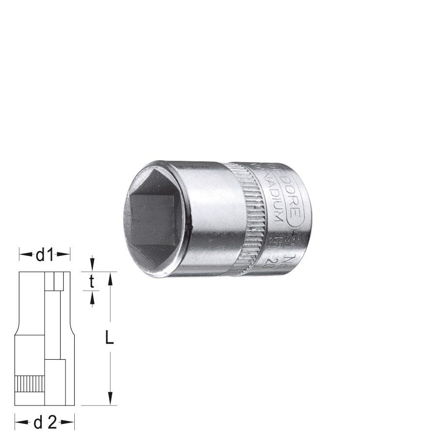 GEDORE 6point Socket 20AF Size 3 16