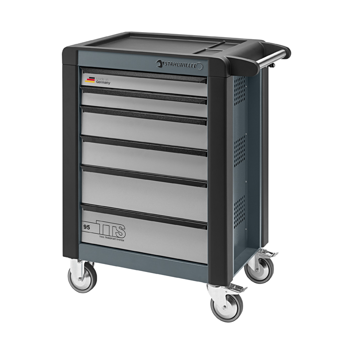Stahlwille 81200013 Tool trolley 95/6A TTS charcoal grey, with 6 drawers