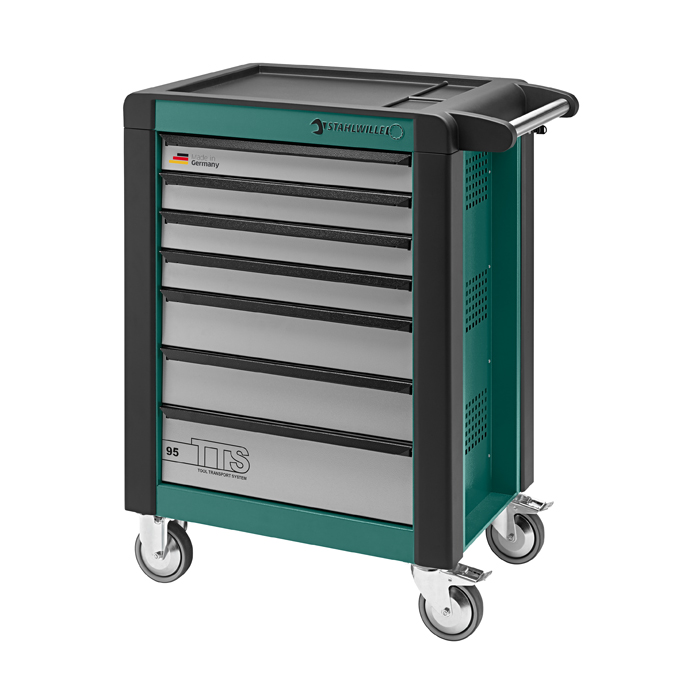 Stahlwille 81200015 Tool trolley 95/7G TTS green, with 7 drawers