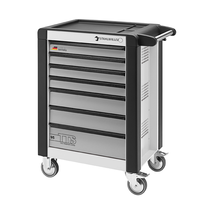 Stahlwille 81200019 Tool trolley 95/7W TTS white, with 7 drawers