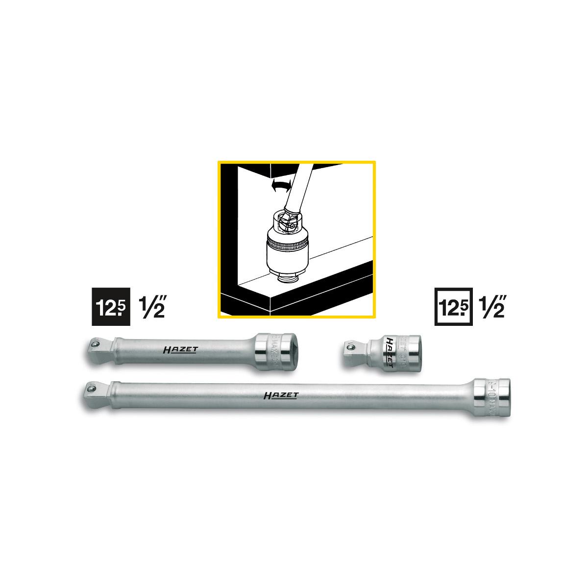 HAZET Wobble extension 919, 46.0 - 248.0 mm